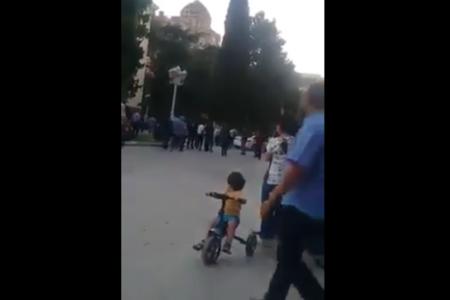 Gəncənin icra başçısı Elmar Vəliyevin vurulduğu an – VİDEO
